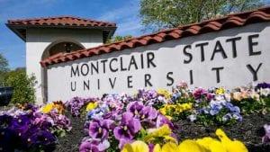 Montclair State University entrance sign