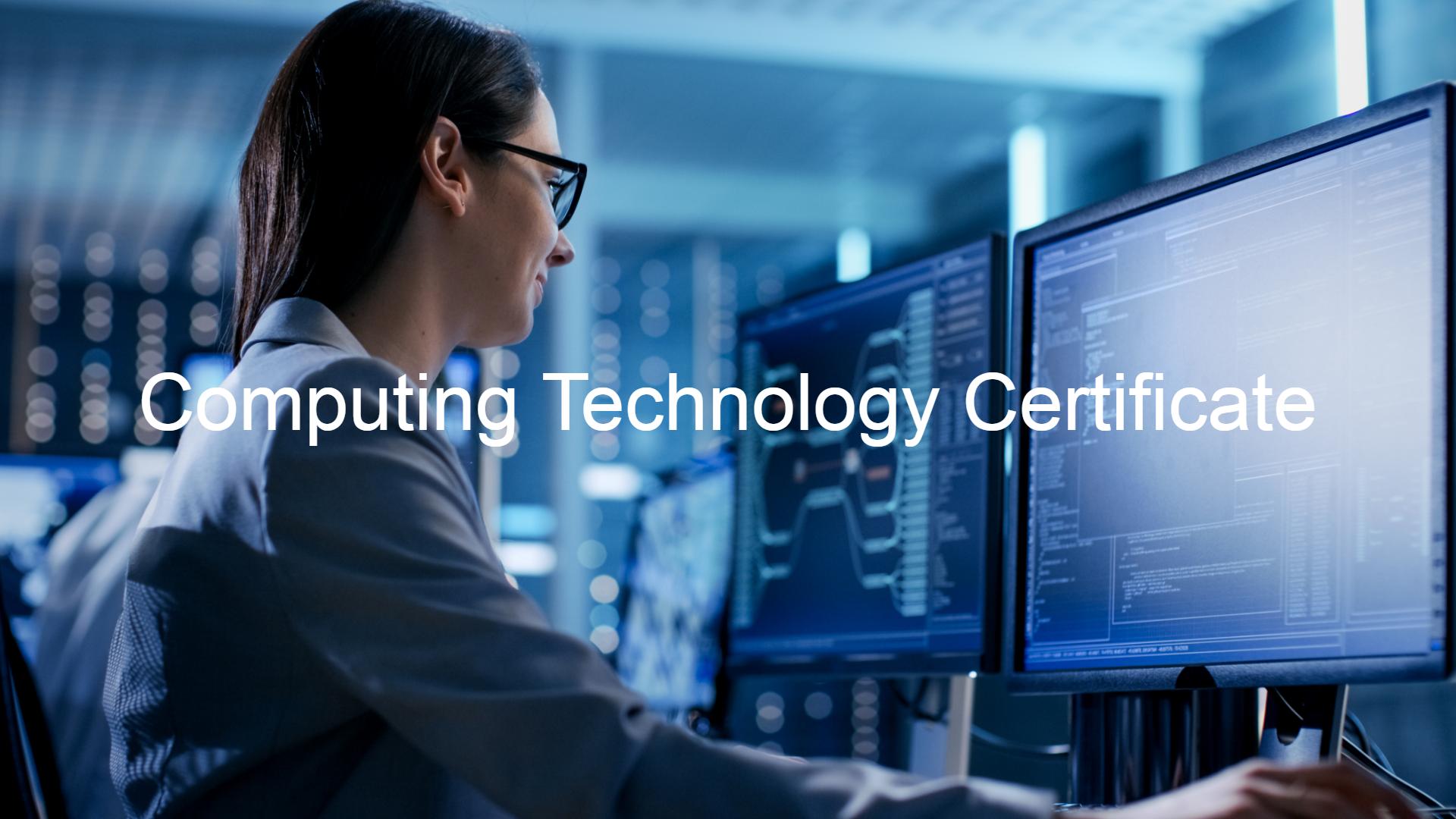 Montclair State University Computing Technology Certificate Program